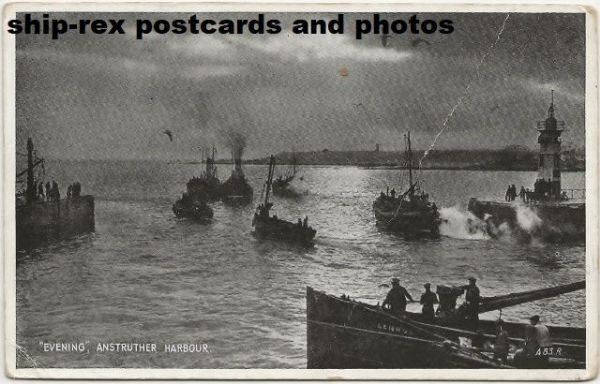 Anstruther harbour (Fife) postcard